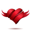 Ribbon in shape of heart vector image