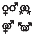 Male and female symbols combination vector image vector image