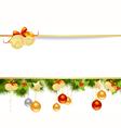 christmas pine frame 2 vector image