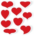 Hearts stickers vector image vector image