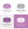 wedding logo1 calligraphic ornament vector image