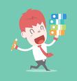 Love my job cartoon business vector image
