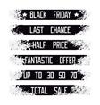 Sales set grunge stripes vector image