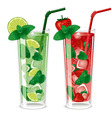 Refreshing mojito cocktails vector image