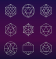 Sacred geometry symbols set vector image