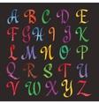 Colorful Watercolor Alphabet vector image