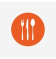 Fork knife tablespoon Cutlery set vector image