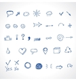 hand drawing icons vector image