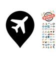 Airport Map Marker Icon with 2017 Year Bonus vector image