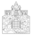 Halloween castle coloring vector image