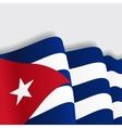 Cuban waving Flag vector image vector image