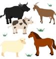 Farm animals set 3 vector image vector image
