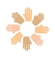 hands human around isolated icon vector image