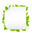 Blank Note Paper With Sprout vector image vector image