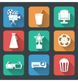 Cinema entertainment pictograms collection vector image