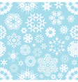winter seamless snowflake background vector image vector image