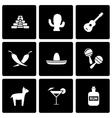 black mexico icon set vector image
