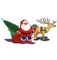 santa and deer vector image