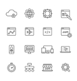 Web Development Line Icons vector image vector image