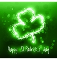 Abstract Patrick day card vector image