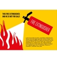 Fire safety poster eliminate fire extinguisher vector image