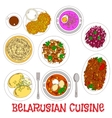 National potato dishes of belarusian cuisine icon vector image vector image