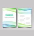 corporate template design brochuresflyers vector image