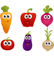 funny cartoon vegetable vector image