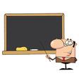 Happy School Teacher vector image