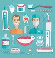 medical teeht hygiene infographic vector image