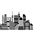 Modern City View Cityscape vector image
