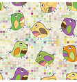mosaic and parrot vector image