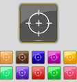 sight icon sign Set with eleven colored buttons vector image