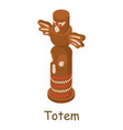 totem icon isometric 3d style vector image