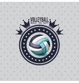 volleyball league design vector image