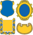 Set of heraldic shields and cartouches collection vector image