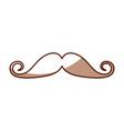 Cute shadow moustache cartoon vector image
