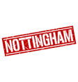 nottingham red square stamp vector image