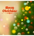 Christmas Background with Bokeh Effect vector image