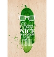 Poster Mr Cucumber vector image vector image