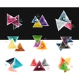 Collection of triangle web boxes - banners vector image vector image