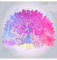 Beautiful Hand drawn Peacock bird vector image