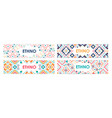 bundle of horizontal web banners decorated with vector image