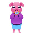 business woman pig vector image