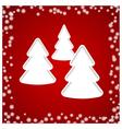 christmas tree white vector image