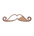 Cute shadow moustache cartoon vector image
