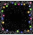 glowing Christmas garland vector image