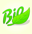 green bio label vector image