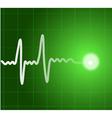 Green heart beat Ekg graph vector image