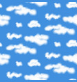 realistic clouds seamless pattern vector image